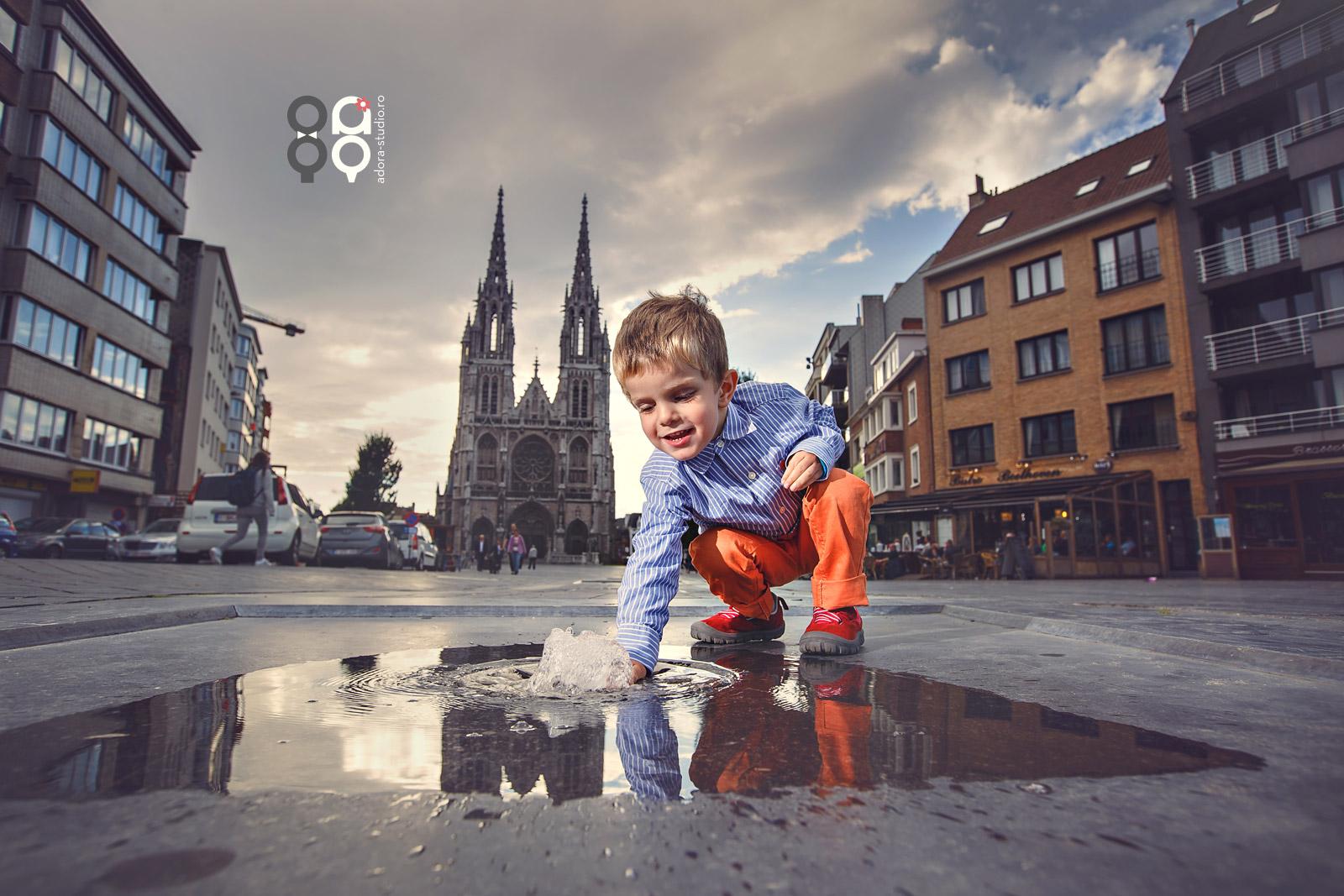 sesiune foto copii in oras