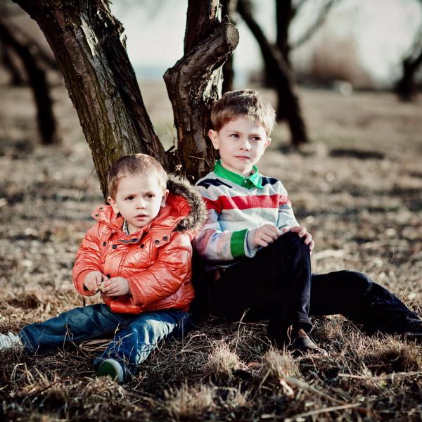 Fotografie de familie: Mihai si David